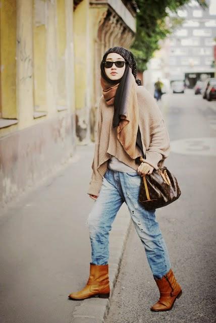 Cara Memakai Hijab Street Style