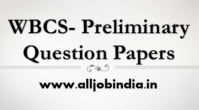 wbcs preliminiary question papers