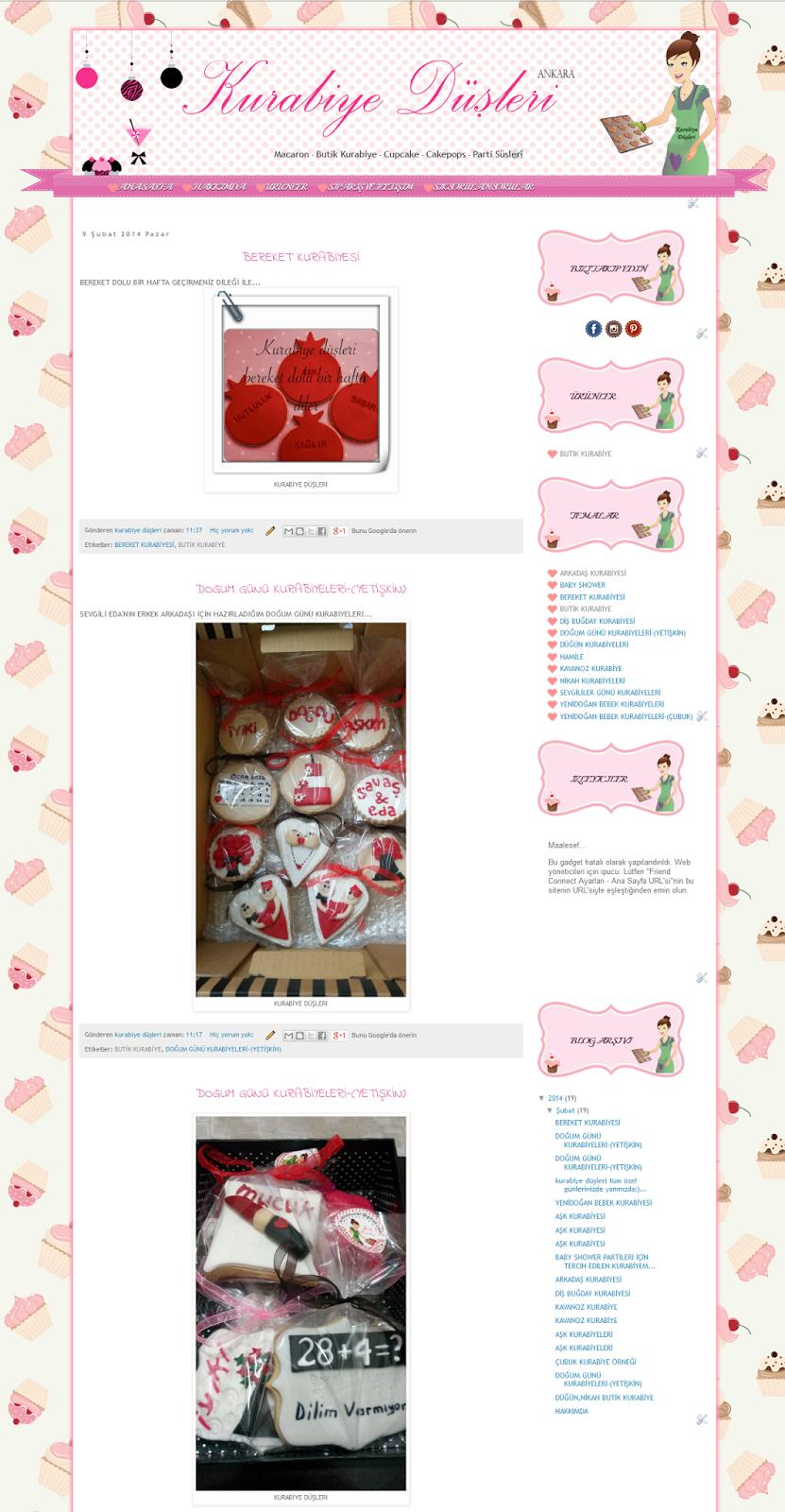 butik kurabiye blog tasarımı