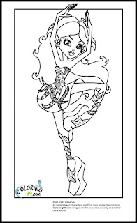 monster high class dance lagoona blue coloring pages