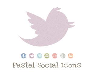 6 Pastel Social Media Icons