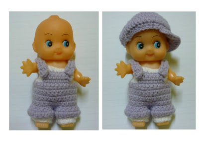 Crochet Kewpie Doll Cupie Doll Clothes 5 inches doll pattern new