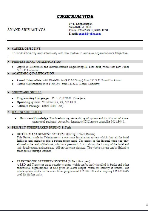 Simple templates for resumes