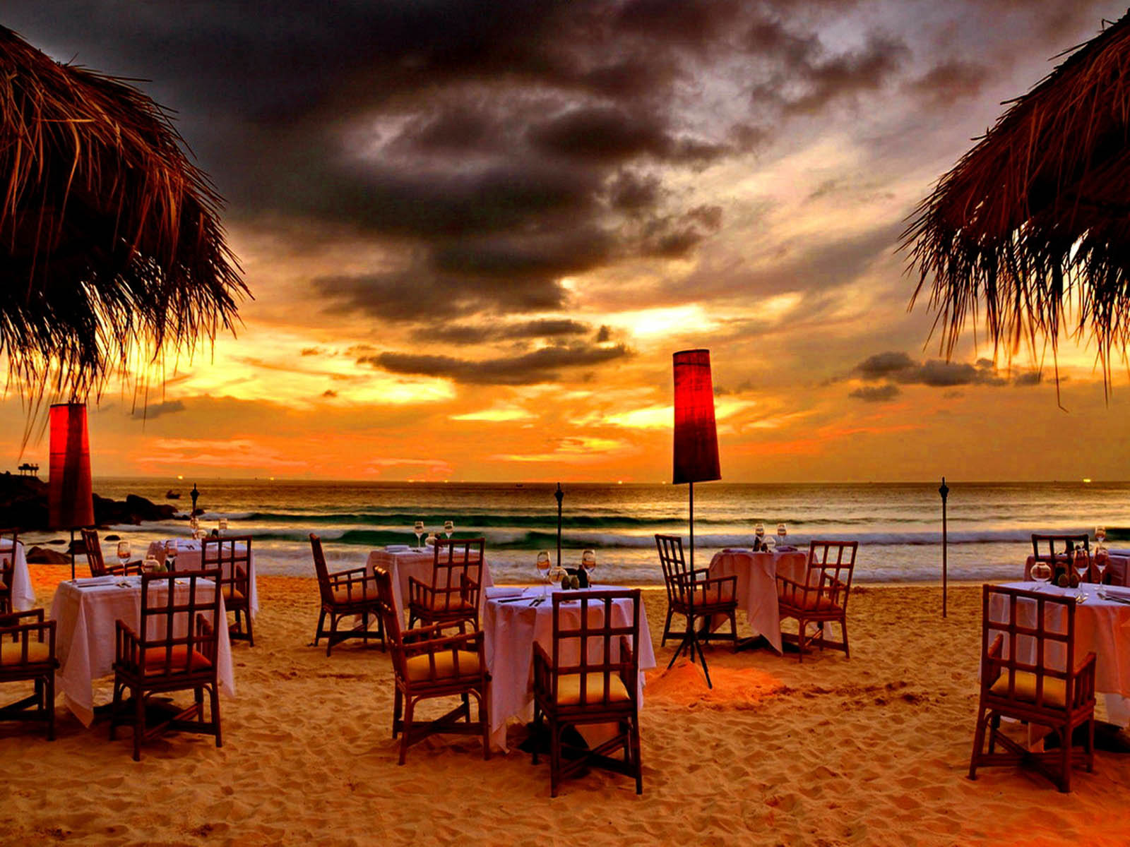 Wallpapers romantic sceneries wallpapers for Romantic dinner