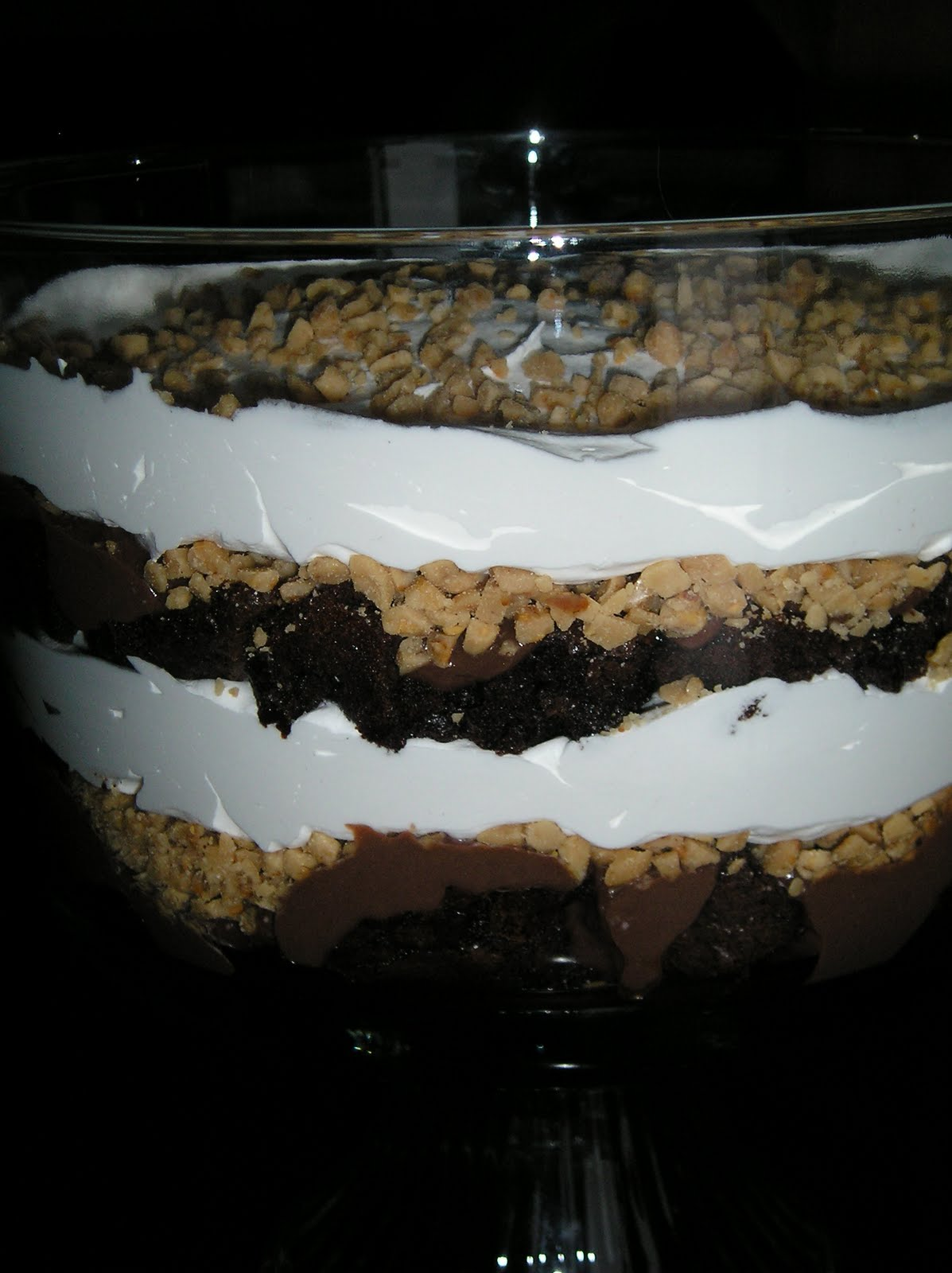 Fudgy Brownie Trifle ~ Edesia's Notebook