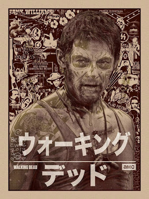 "The Walking Dead ""Daryl"" Screen Print by Brian Ewing"
