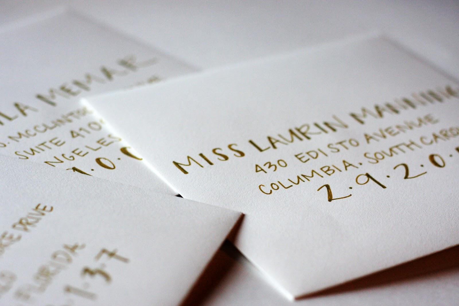 Outstanding Addressed Wedding Invitations Sketch - Invitations ...