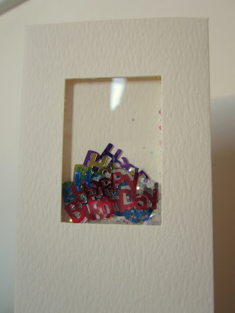 shaker card birthday card