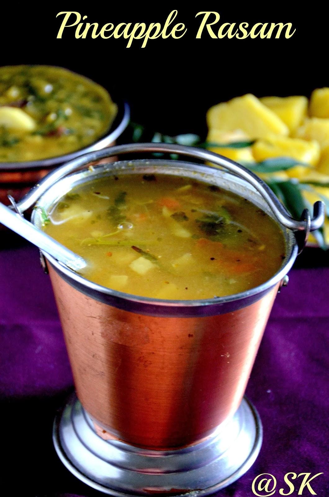 pineapple rasam - pineapple soup  - பைனாப்பிள் ரசம்