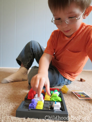 learning through play with Rush Hour Jr.