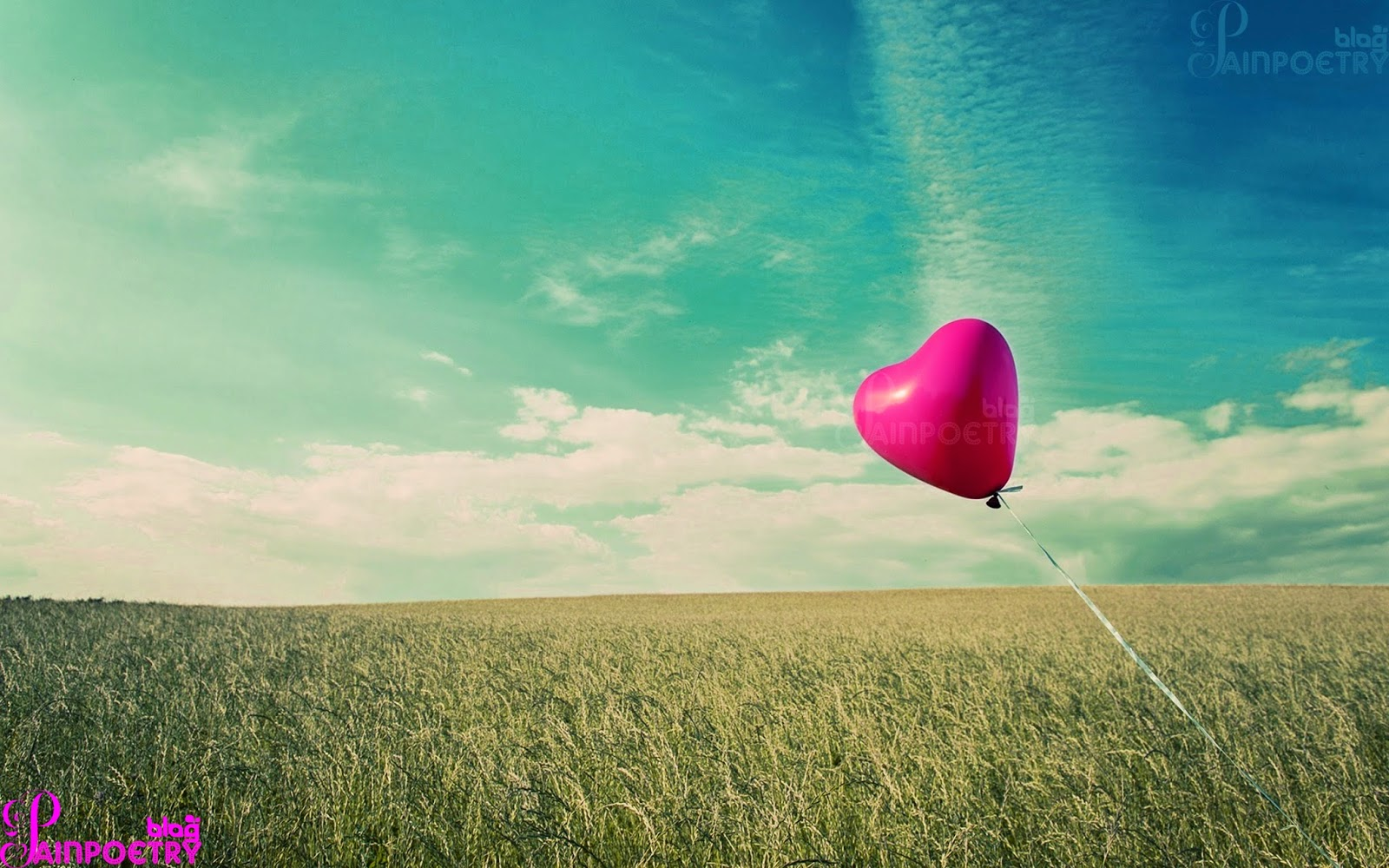Love-Wishes-Wallpaper-Heart-Flying-In-Air-HD