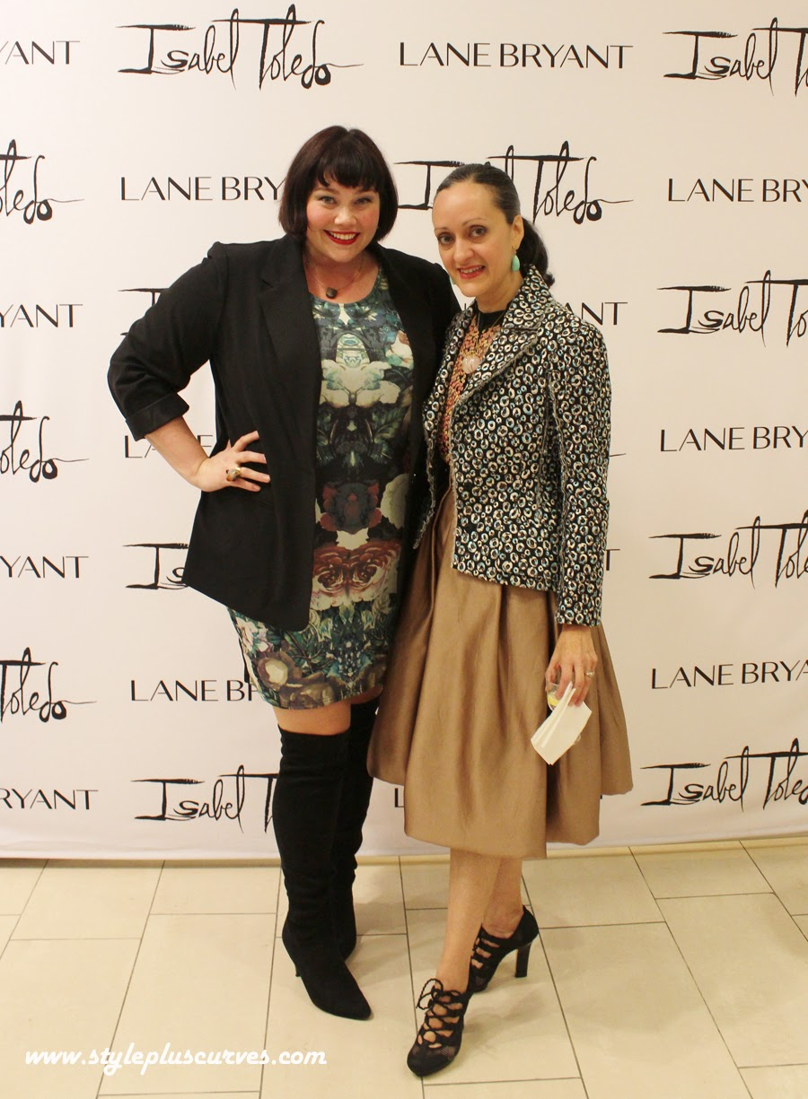 Amber of Style Plus Curves with Isabel Toledo
