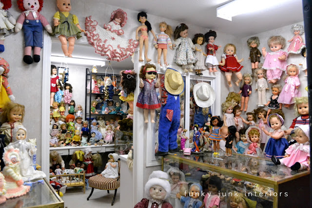 vintage dolls / Junkin' day at Granny and Grumpa's Antiques in Abbotsford, BC via FunkyJunkInteriors.net