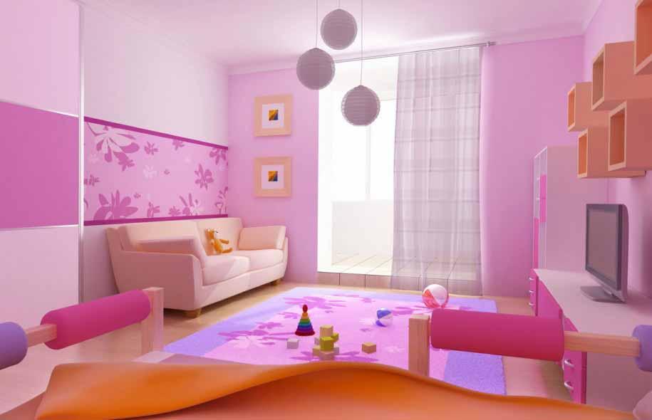Foto Desain Kamar Tidur Anak Cewek Simple Warna Pink | Desain Rumah