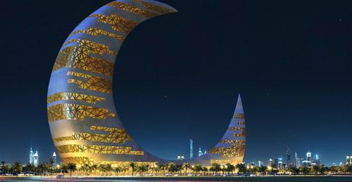 Dubai Amazing Building #76: Crescent Moon Tower