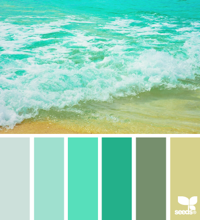 Coastal paint colors land and sand for Colors that go with ocean blue