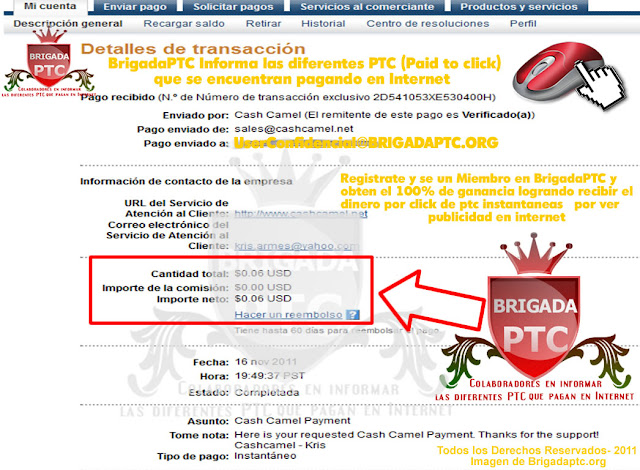 Pago recibido por CashCamel.net CashCamel-PedidodepagoxbyxBrigadaptc