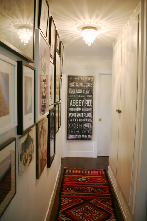 Wall Decor For Hallway : By ozana narrow hallway styling