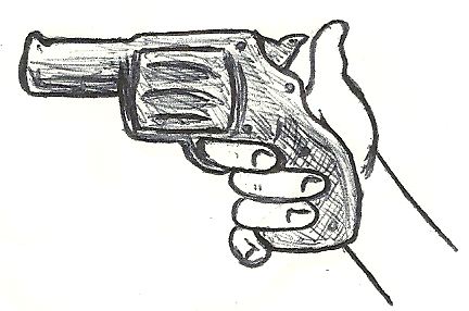 how to draw guy holding gun