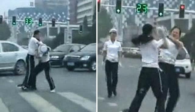 polwan berkelahip I polisi wanita