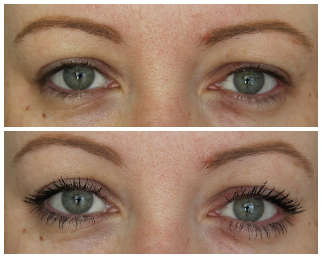 Tarte Lights, Camera, Flashes mascara review, before & after ...