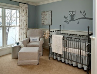 dormitorio bebé paredes color gris