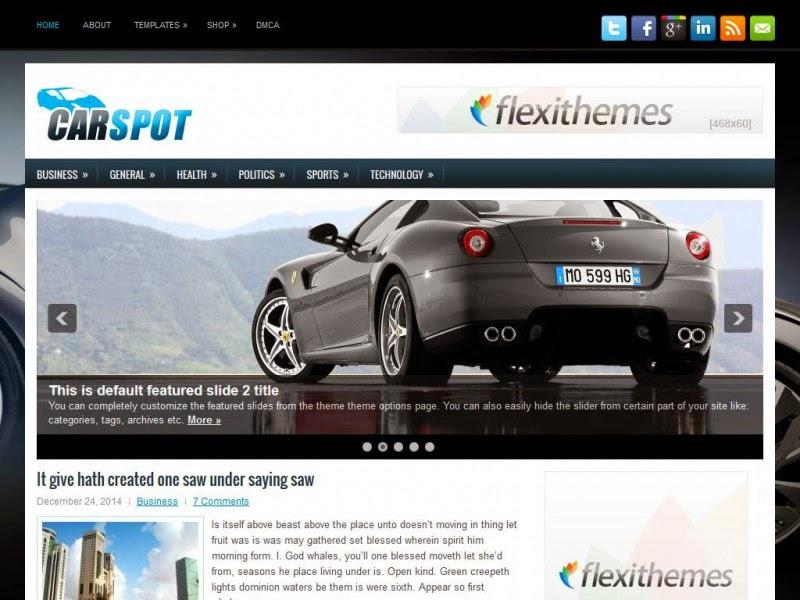 CarSpot - Free Wordpress Theme