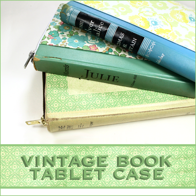 Retro Book Cover Tutorial : Stamped in his image vintage book tablet case video
