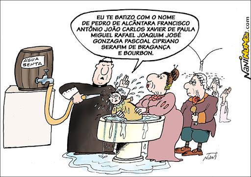 O batizado de Dom Pedro I