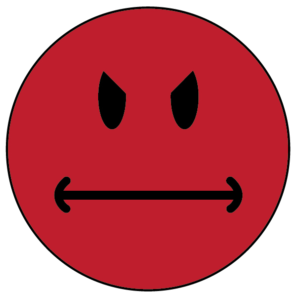 Pics For > Red Angry Smiley Face