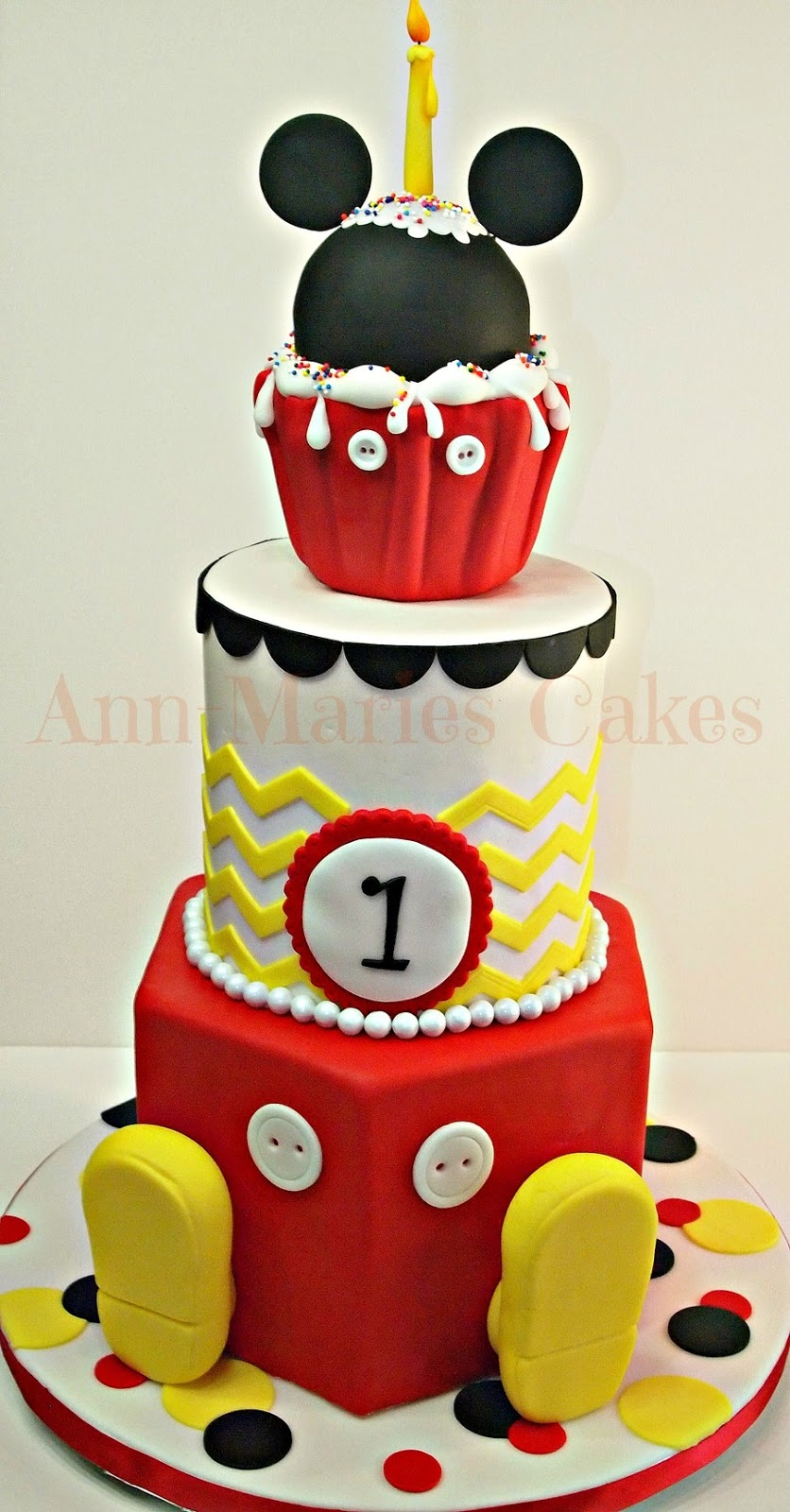 Cake Images Of Mickey Mouse : The Sensational Cakes: MICKEY AND MINNIE THEME BIRTHDAY ...