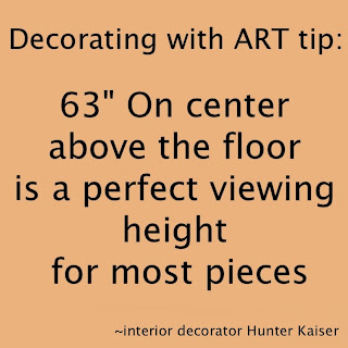 hanging art decorating tip