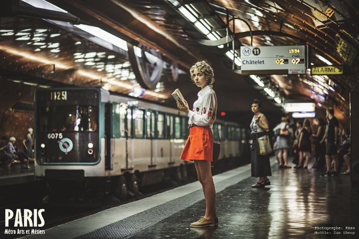 fashion photography, Knas, métro Art et Métiers, das Sheep
