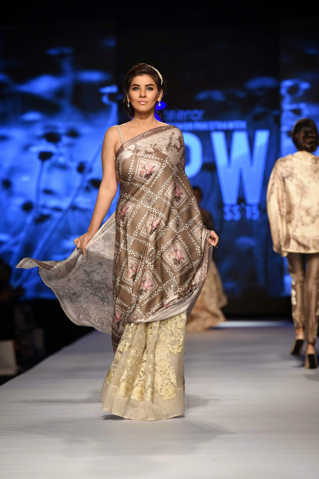 digital print sari nida azwer TFPW15