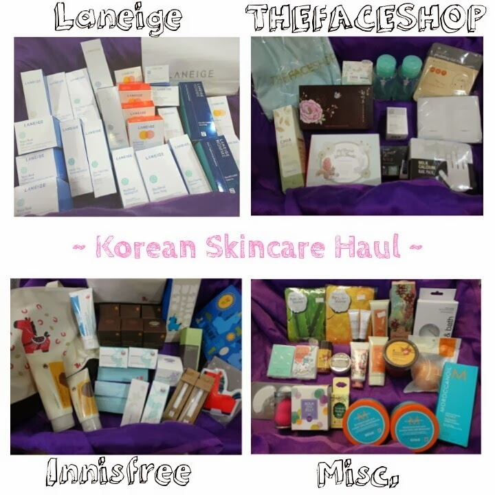 Korean Skincare Haul Singapore lunarrive review