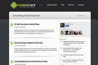 AndroidAct Responsive Blogger Template