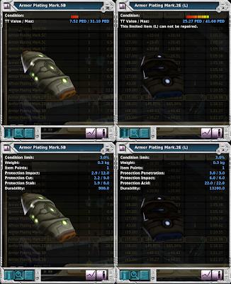 Entropia Universe - Armor Plating