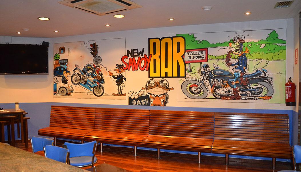 berok graffiti mural profesional en barcelona joe bar team mural graffiti. Black Bedroom Furniture Sets. Home Design Ideas