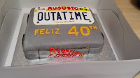 tarta cumpleaños fondant regreso al futuro