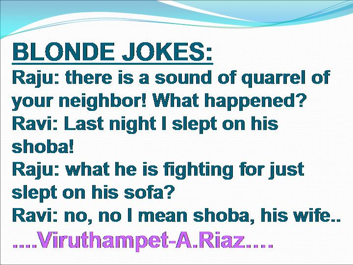 really mean blonde jokes