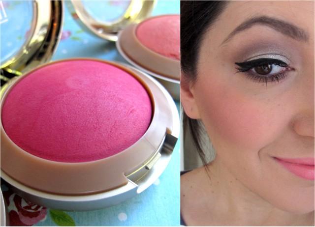 Milani baked blush bella rosa swatch