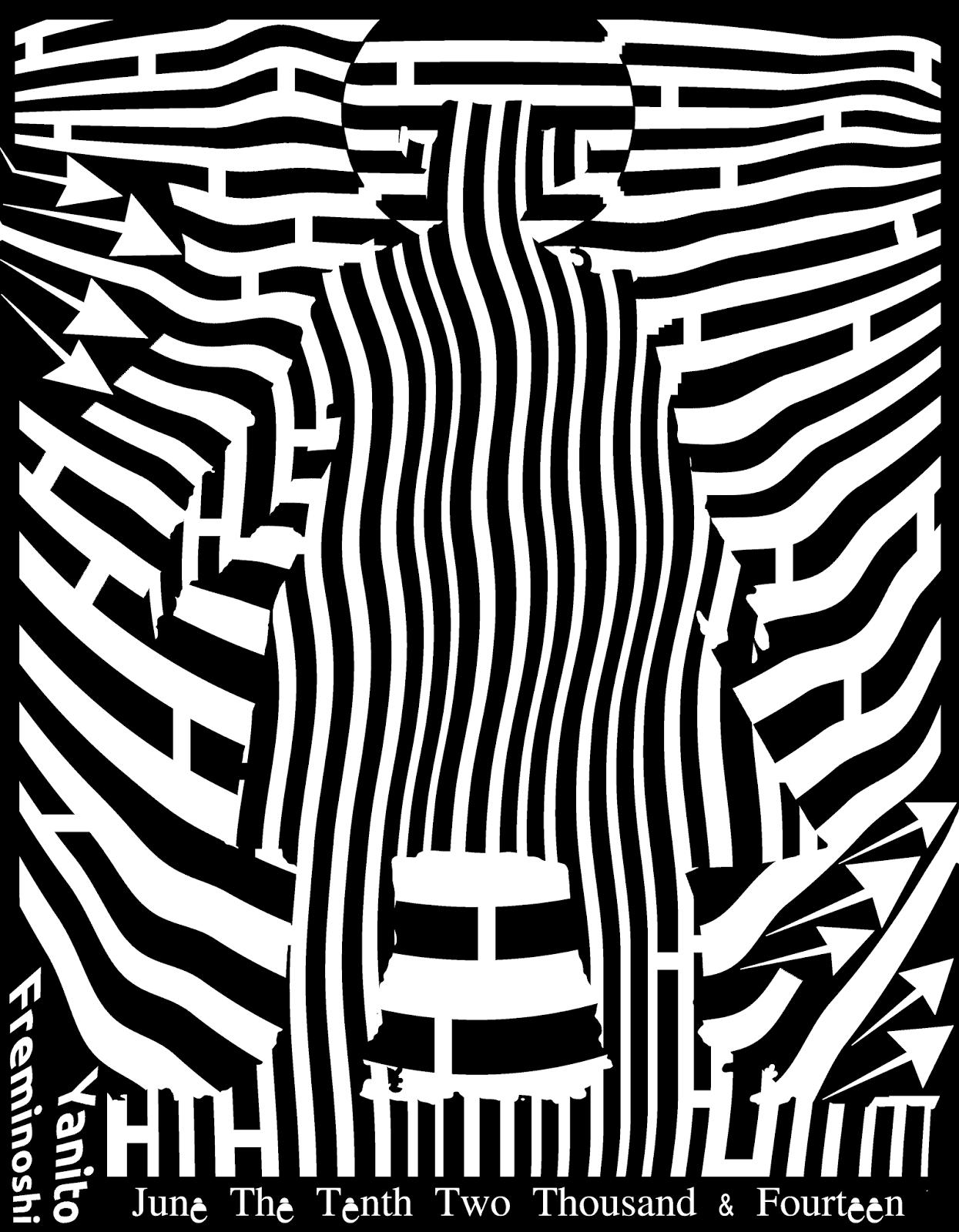 maze black and white