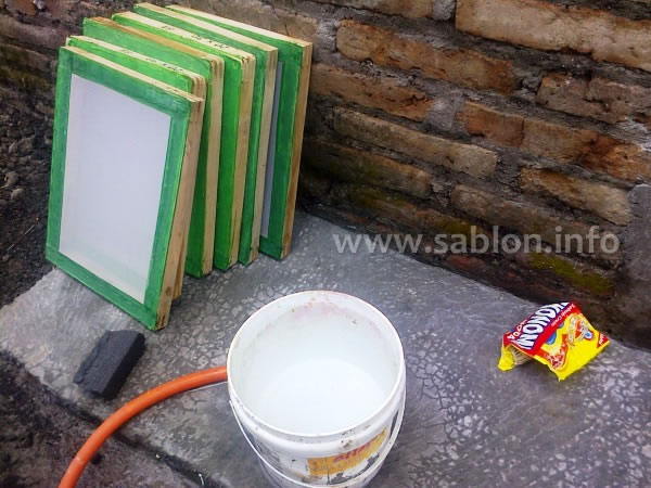 alat sablon - screen sablon