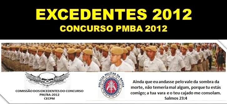 EXCEDENTES  PMBA 2012