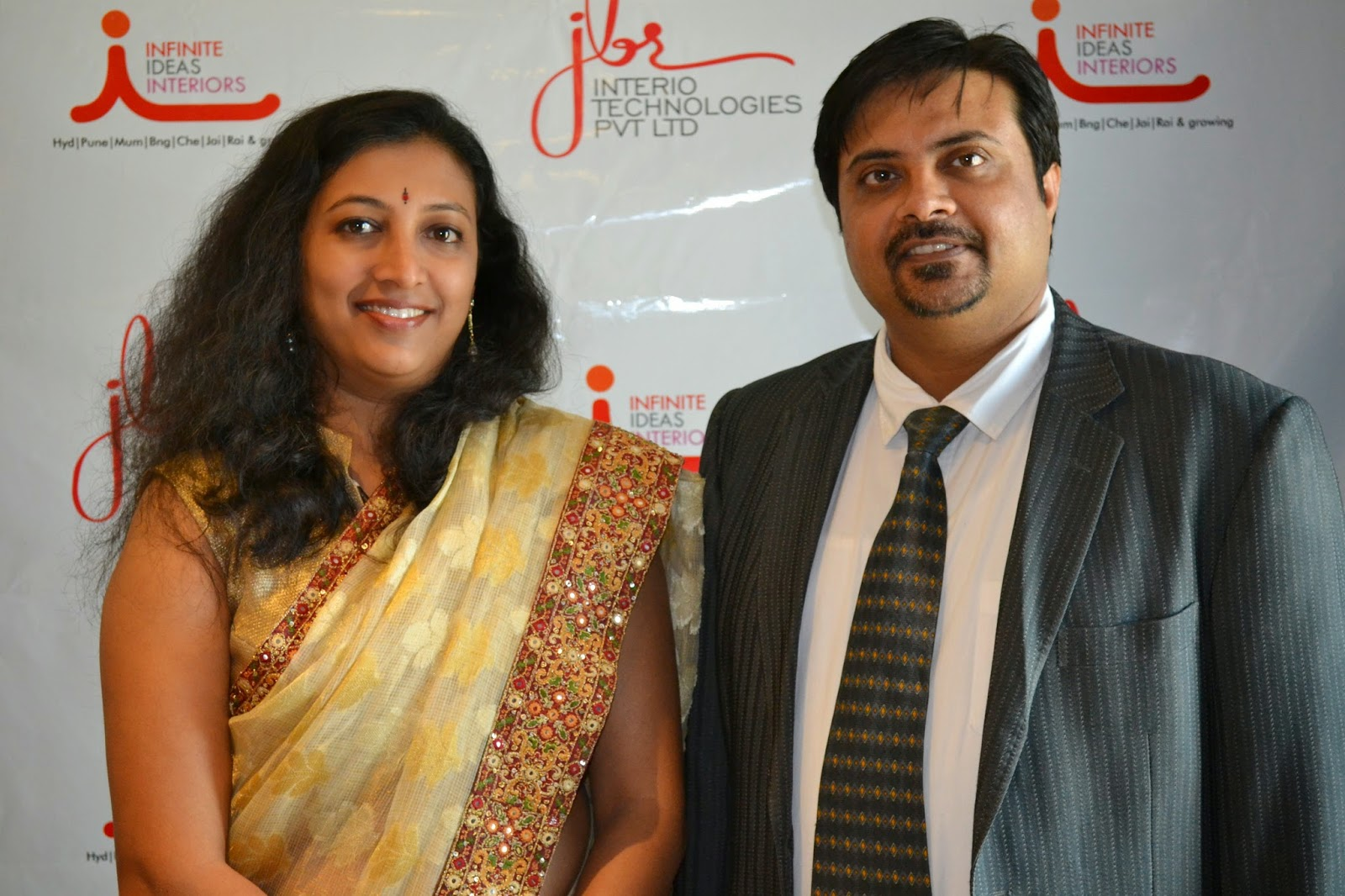 Brinda Goswami, Founding Director, Infinite Ideas Interiors & Vishal Sharma, Head of Sales and Business Development