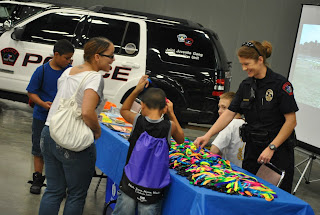 School district police spent lots of time with students.