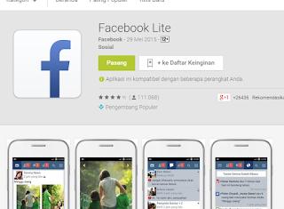Facebook Lite dirilis untuk pengguna Smartphone low end