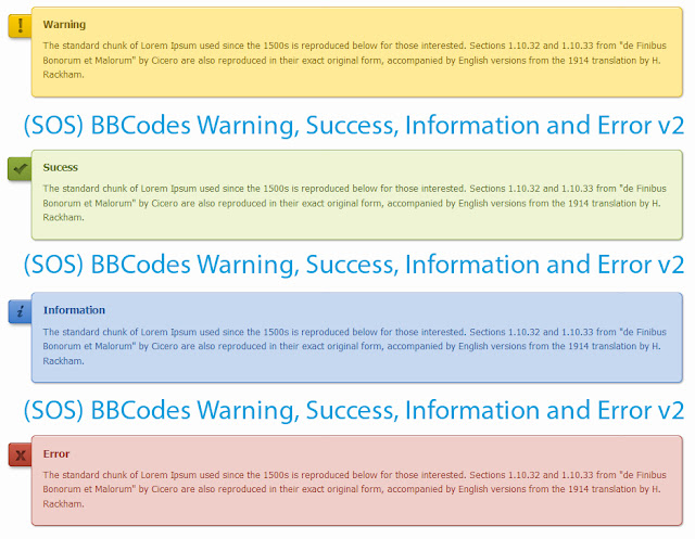 BBCode Warning, Success, Information, & Error On IP. Board