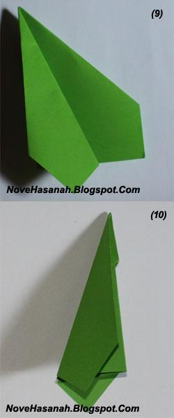 cara membuat origami untuk pemula bentuk pesawat terbang 5