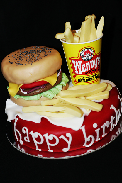 baking with love Burger Birthday Cake